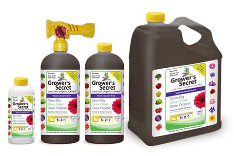 Grower's Secret 521 organic plant energizer with fish emulsion
